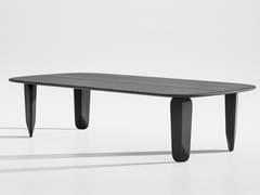 Tavolino basso rettangolare in legno masselloKUYU | Tavolino rettangolare - ZEITRAUM
