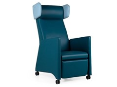 Poltrona a orecchioni relax in pelle con ruoteKYARA RELAX RD - FENABEL - THE HEART OF SEATING