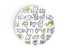 Piatto rotondo in porcellana per bambiniTHE FRENCH PICTURE BOOK OF THE ALPHABET - DEUXIEME CHAMBRE