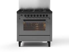 Cucina a libera installazione in acciaioL09-GRD | Cucina a libera installazione - ILVE