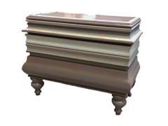 Comodino rettangolare in legno con cassettiLA MÈR | Comodino - LOLA GLAMOUR