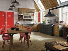 Cucina componibile in legnoLAB 40 - COMPOSIZIONE 02 - MARCHI CUCINE
