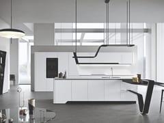 Cucina componibile laccata con isolaVISION | Cucina laccata - SNAIDERO