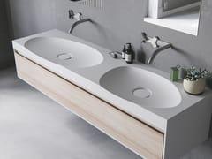 Lavabo doppio ovale con pianoLAGOON-03 DUAL - LE PROJET BRAND