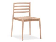 Sedia impilabile con seduta in corda intrecciataLAKE SI0653 - ANDREU WORLD