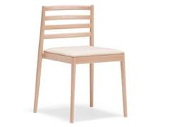 Sedia impilabile in legno con cuscino integratoLAKE SI0654 - ANDREU WORLD