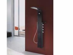 Colonna doccia a parete termostatica con soffione LAMA Fibra di carbonio - Lama