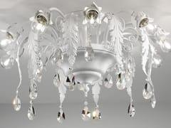 Lampada da soffitto a luce diretta in metallo verniciato con cristalli ACANTIA PL10 | Lampada da soffitto - Acantia