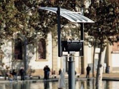 Testa palo a LED in acciaio zincatoLAMPARAALTA - URBIDERMIS
