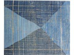 Tappeto fatto a mano rettangolare a motivi geometriciLAN 35151 - ARTE DI TAPPETI DI GHODRATI PIREHGALINI MOHAMMAD