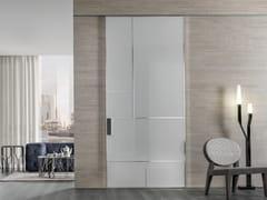 Porta laccata scorrevole in vetro temperato LAND | Porta in vetro temperato - Aluminium Chic