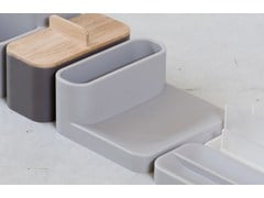 Portasapone / vaschetta portacancelleria in gel poliuretanicoLANDSCAPE TRAY - GEELLI BY C.S.