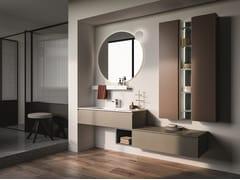 Mobile lavabo laccato sospeso LAPIS COMP. 3 - Lapis