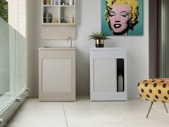 Mobile lavanderia in ABS con ante a serrandina per esterniLAVACRIL   Mobile lavanderia - COLAVENE