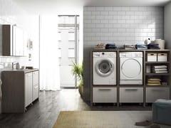 LEGNOBAGNO, LAVANDERIA 10 Mobile lavanderia componibile con lavatoio