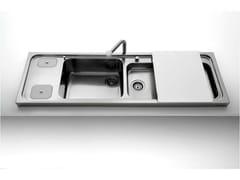 Lavello a 2 vasche semi filo top in acciaio inox con gocciolatoioLavello semi filo top - ALPES-INOX