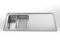 Lavello a 2 vasche da incasso in acciaio inox con gocciolatoioRAGGIO 60 | Lavello da incasso - ALPES-INOX