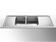 Lavello a 2 vasche da incasso in acciaio inox con gocciolatoioRAGGIO 60 | Lavello a 2 vasche - ALPES-INOX