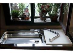 Lavello a 2 vasche in acciaio inox con gocciolatoioLavello - ALPES-INOX