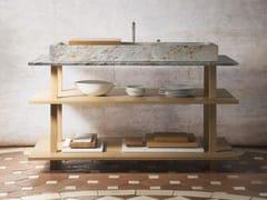 Mobile lavabo in legno masselloGRAND ÉTABLI AUGE Sarrancolin - OBJETS ARCHITECTURAUX