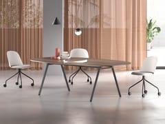 Tavolo da riunione ovale in legnoLAY | Tavolo da riunione - ARCHIUTTI