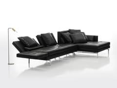 Divano reclinabile in pelle con chaise longue AMBER | Divano in pelle - Amber