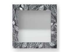 Specchio quadrato da parete con cornice LEAVES COLD | Specchio - DOLCEVITA NATURE