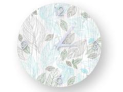 Orologio da parete in legno stuccato LEAVES COLORS | Orologio - DOLCEVITA NATURE