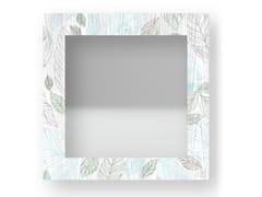 Specchio quadrato da parete con cornice LEAVES COLORS | Specchio - DOLCEVITA NATURE