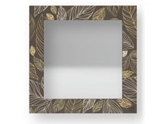 Specchio quadrato da parete con cornice LEAVES WARM | Specchio - DOLCEVITA NATURE