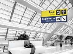 Espositore bifacciale da soffitto luminosoLED SIGN 30 EXTRA SLIM | Espositore da soffitto - REMOR