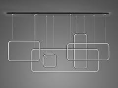 Lampada a sospensione a LED in alluminioLED SQUARES NO.5 - ALTAVOLA DESIGN