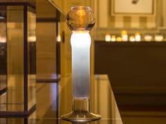 Lampada da tavolo a LED in vetro borosilicato senza filiLEDA - ALBUM ITALIA