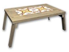 Vassoio da letto in legno e gres porcellanatoLEDA - GRASSI DANILA