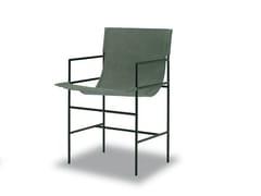 Sedia in pelle con braccioliLEGGIA | Sedia con braccioli - BAXTER
