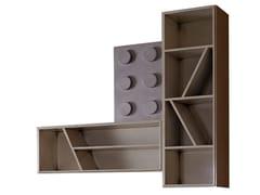 Libreria a giorno sospesa in legnoLEGOS | Libreria sospesa - LOLA GLAMOUR