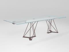 Tavolo allungabile rettangolare in cristalloLEON | Tavolo allungabile - BAREL