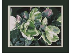 Tappeto a fiori rettangolare in lanaLEONORE FRAME - BLOSS