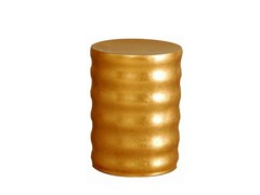 Tavolino di servizio foglia oro per contract LES ENFANTS   Tavolino foglia oro -