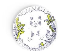 Piatto piano in porcellana per bambiniCONNECT THE DOTS - DEUXIEME CHAMBRE