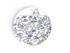 Piatto rotondo in porcellana per bambiniTHE FISH TWINS - DEUXIEME CHAMBRE
