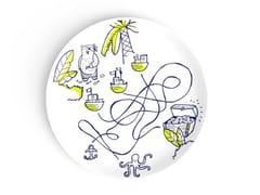 Piatto rotondo in porcellana per bambiniTHE THREE WAYS - DEUXIEME CHAMBRE