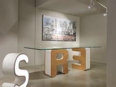 Tavolo rettangolare in legno e vetroLETTERARIO | Tavolo - BOFFETTO