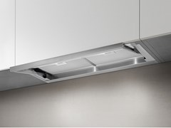 Cappa in acciaio inox e vetro ad incasso con illuminazione integrataLEVER - ELICA