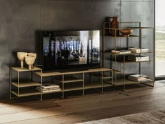Mobile TV in metallo con libreriaLEVIA | Mobile TV - APP DESIGN
