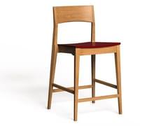 Sgabello alto laccato in legno con schienaleLH-42 | Sgabello alto - LUKE HUGHES & COMPANY