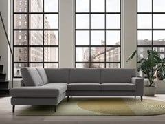 Divano componibile in tessuto con chaise longueLIAM | Divano con chaise longue - FELIS