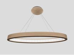 Lampada a sospensione a LED in rovereLIBE ELLIPSE S120 - MASIERO