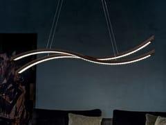 Lampada a sospensione a LED a luce diretta in rovere LIBE S160 - Libe