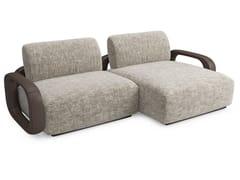 Divano componibile in tessuto con chaise longueLIBERTY   Divano con chaise longue - SICIS